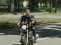 Юрий Горбунов прокатился на мотоцикле