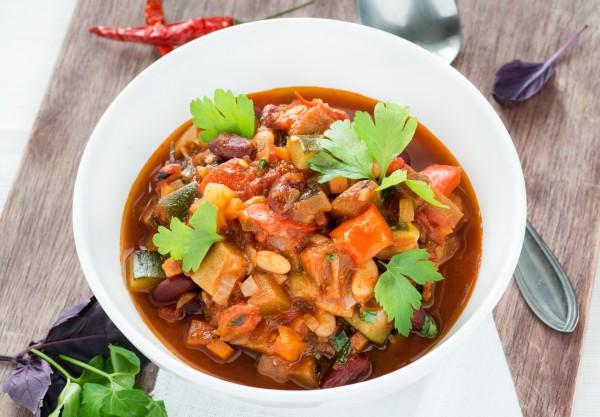 Рецепт                  Великий пост 2015: Чили с овощами