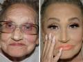 Королева контуринга: 80-летняя бабушка попросила внучку сделать ей макияж