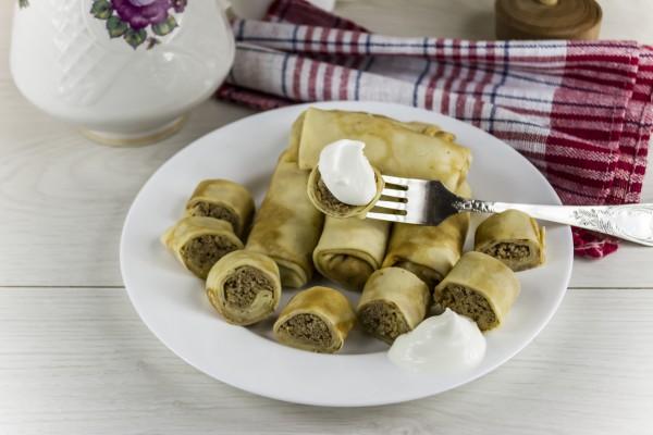 Рецепт                  Масленица 2015: Рецепт блинов с мясом