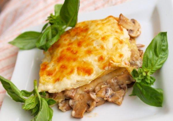 Рецепт                  Грибная лазанья