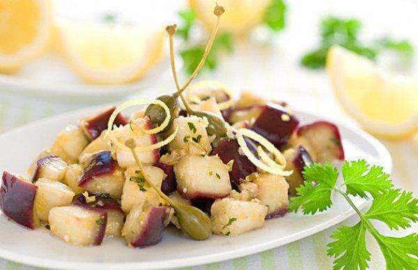 Рецепт                  Жареные баклажаны с лимоном