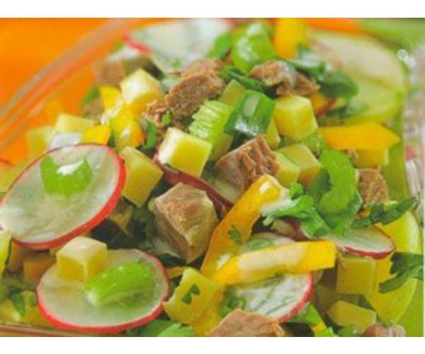 Рецепт                  Овощной салат с говядиной