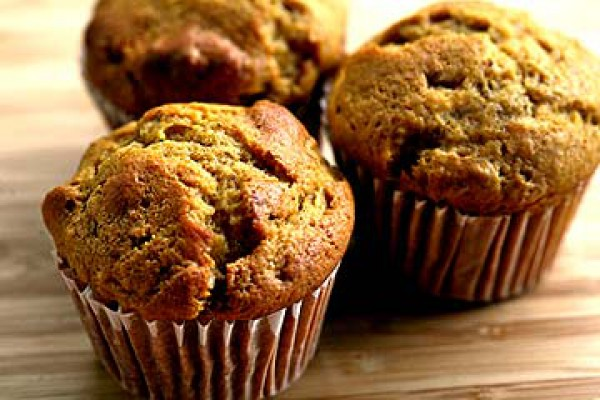 Рецепт                  Тыквенные маффины с орехами