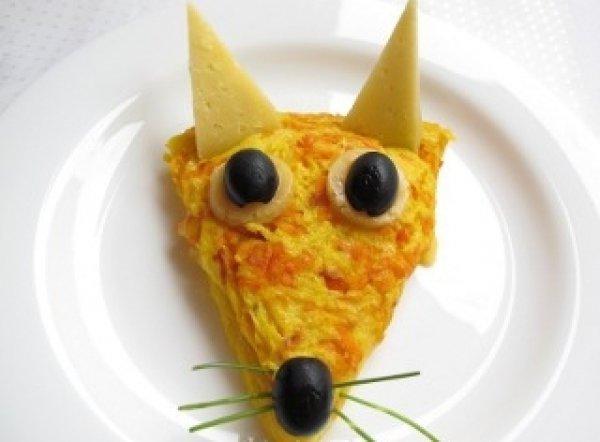 Рецепт                  Омлет с морковью