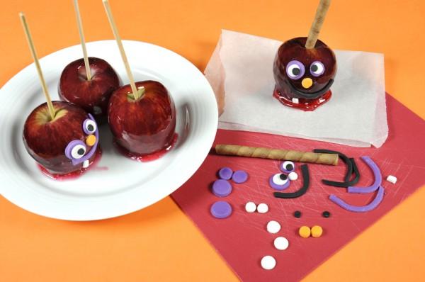Рецепт                  Яблоки в карамели на Хэллоуин