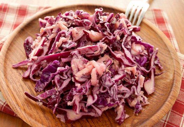 Рецепт                  Салат из красной капусты