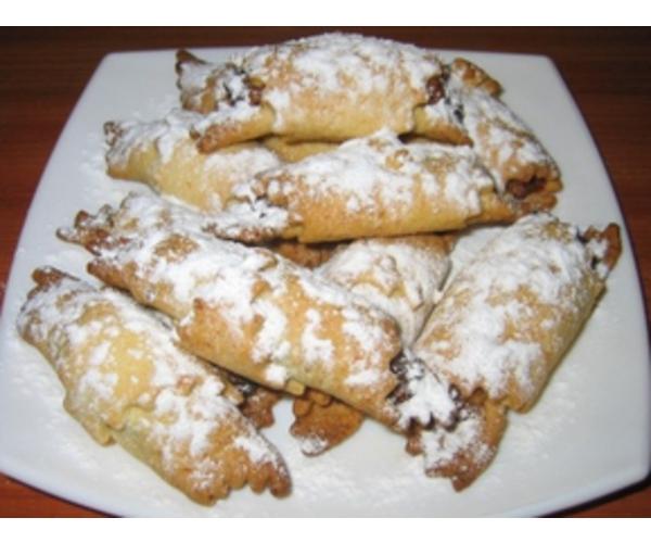 Рецепт                  Рогалики с орехами