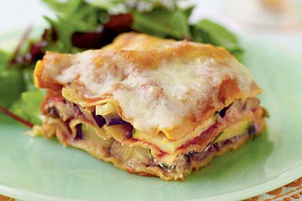 Рецепт                  Лазанья с кабачками и творогом