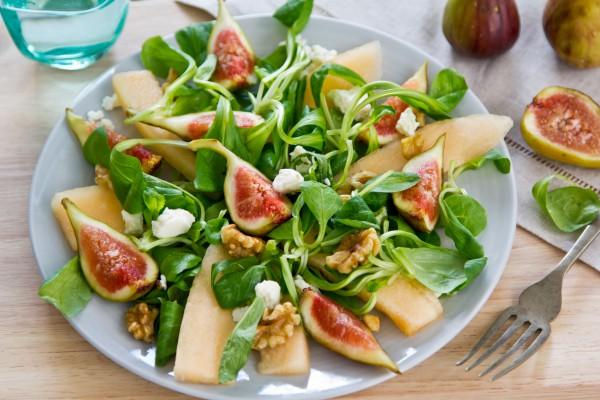 Рецепт                  Салат из инжира и дыни