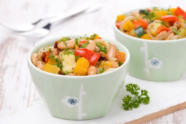 Рецепт                  Рагу из тыквы и кабачков с фасолью