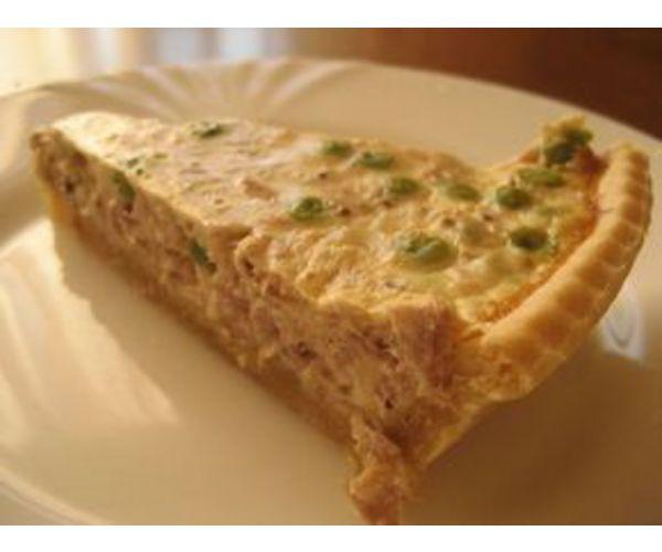 Рецепт                  Тарт с тунцом и зеленым горошком
