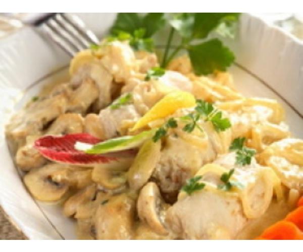 Рецепт                  Куриное филе с шампиньонами