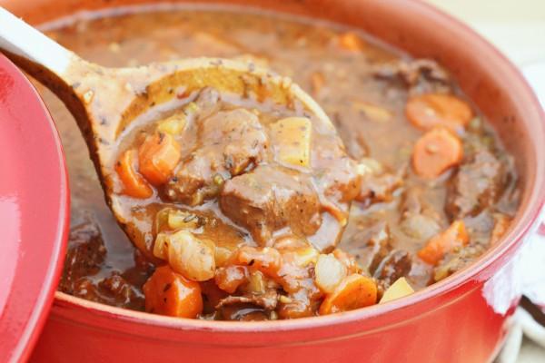 Рецепт                  Жаркое из двух видов мяса с овощами