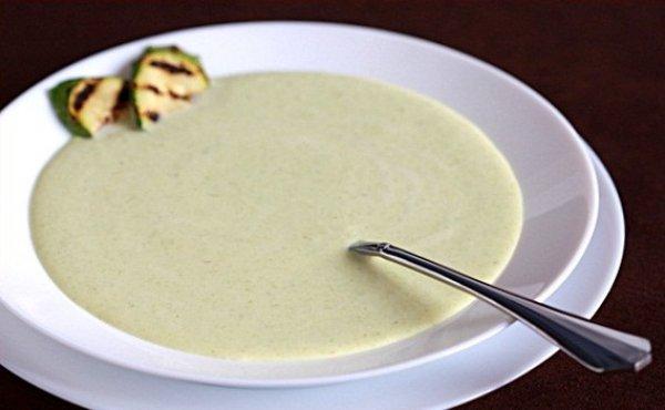 Рецепт                  Суп из кабачков со сливочным сыром
