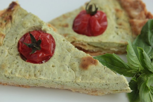 Рецепт                  Тарт с брынзой и помидорами черри