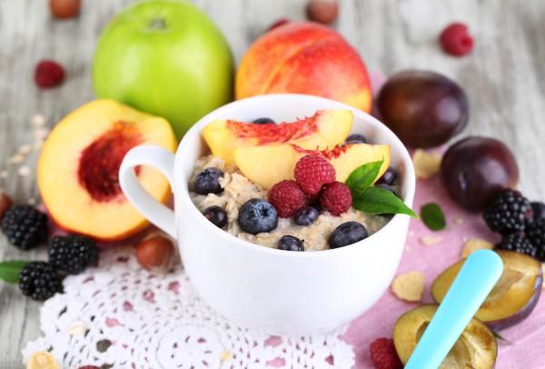 Рецепт                  Овсянка с летними фруктами