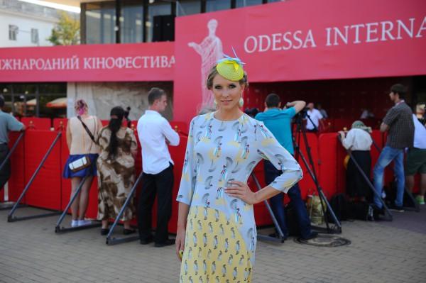 Катя Осадчая на Одесском кинофестивале