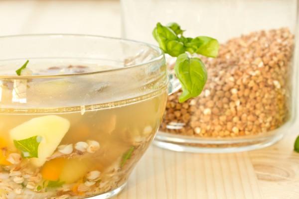 Рецепт                  Гречневый суп с картофелем