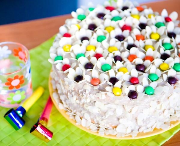 Рецепт                  Новогодний торт с ягодами и творогом