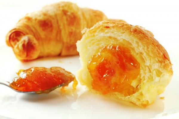 Рецепт                  Рогалики с абрикосовым джемом