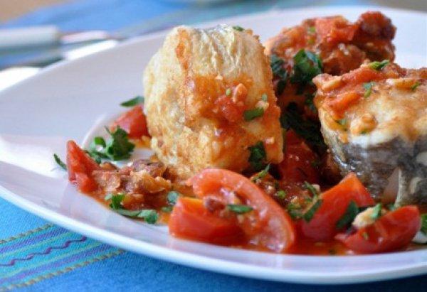Рецепт                  Рыба в томатно-ореховом соусе