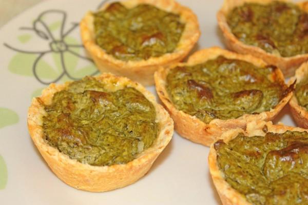Рецепт                  Тарталетки с творогом и шпинатом
