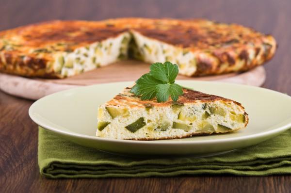 Рецепт                  Фриттата с кабачками и зеленью
