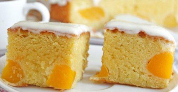 Рецепт                  Простой персиковый пирог