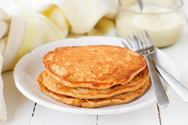 Рецепт                  Тыквенно-яблочные блины с корицей