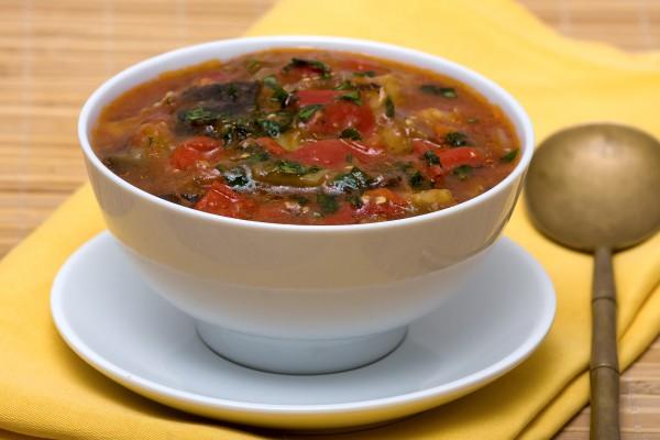 Рецепт                  Крем-суп из баклажанов с запеченными помидорами