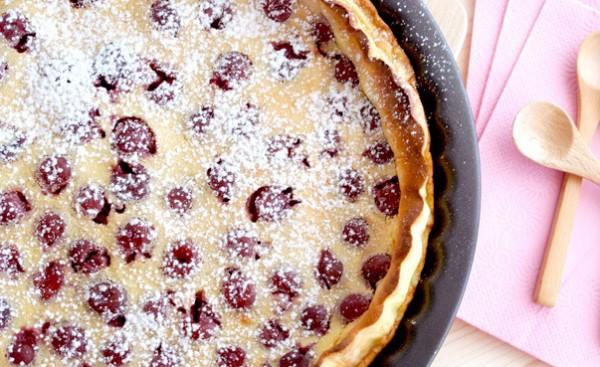 Рецепт                  Лимонный пирог с черешней