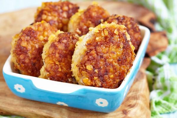 Рецепт                  Куриные оладьи с чесноком