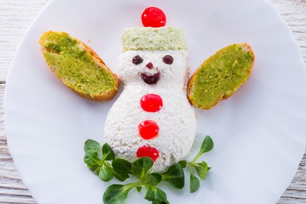 Рецепт                  Зимний салат Снеговик