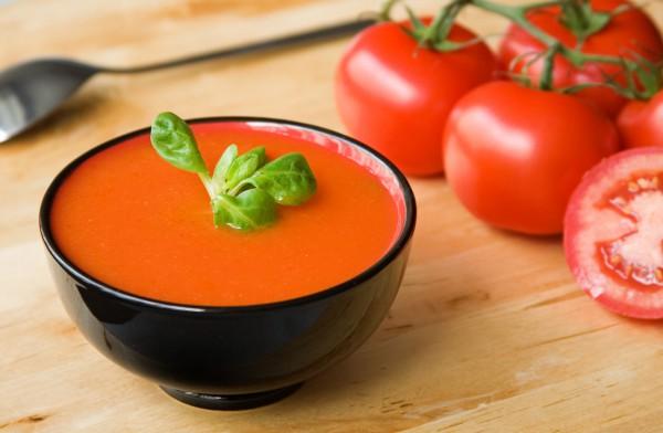 Рецепт                  Гаспачо с кинзой и соусом табаско