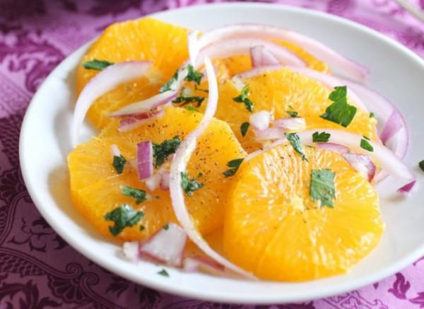 Рецепт                  Сицилийский апельсиновый салат