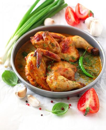 Рецепт                  Запеченная курица с паприкой