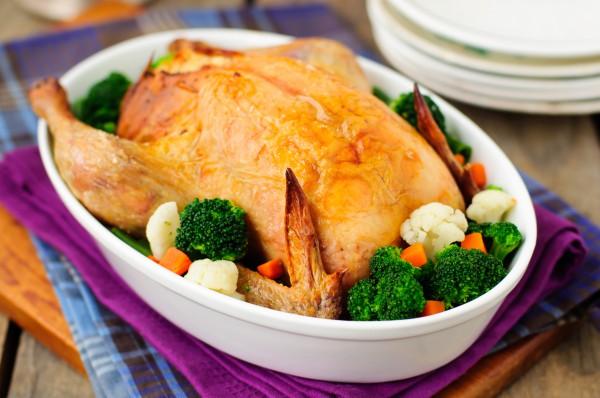 Рецепт                  Запеченная курица с лимоном и чесноком