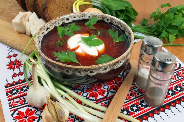 Рецепт                  Украинский борщ с мясом
