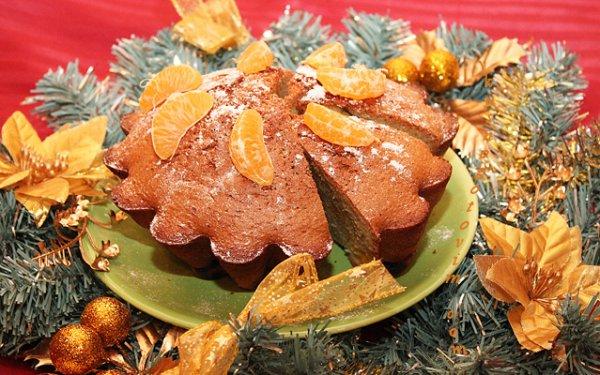 Рецепт                  Рождественская шарлотка с мандаринами