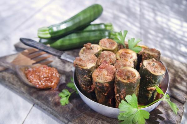 Рецепт                  Помидоры, запеченные с кабачками