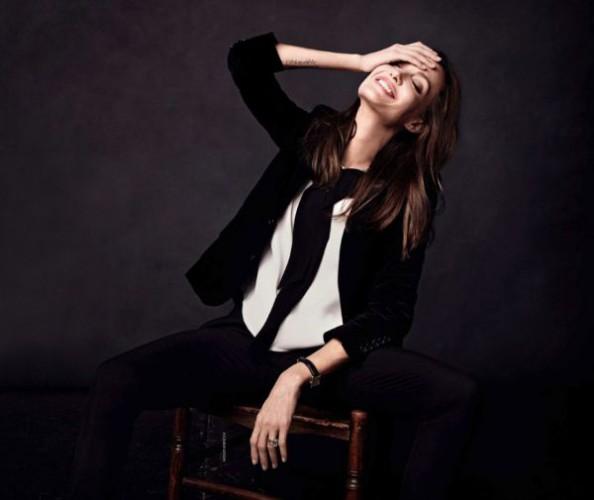 Актриса Анджелина Джоли снялась для нового выпуска Elle