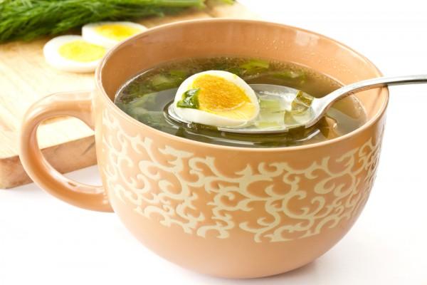 Рецепт                  Летний суп из щавеля