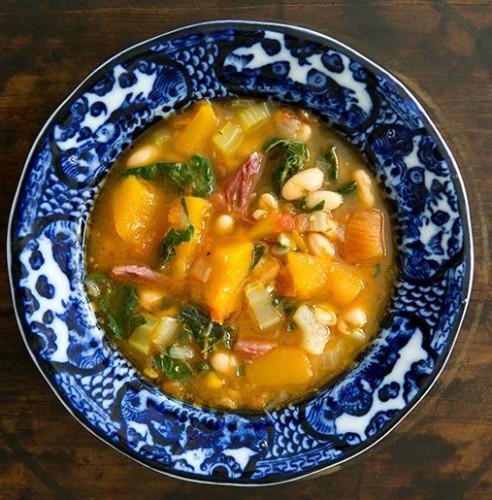Рецепт                  Суп из белой фасоли с мясом и тыквой