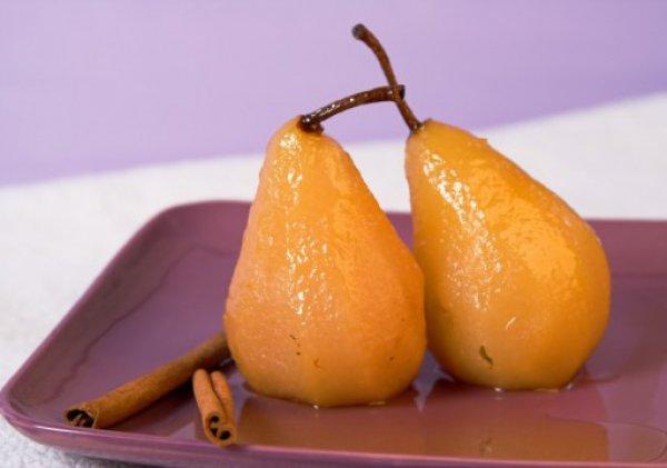 Рецепт                  Груши в вине с корицей и медом
