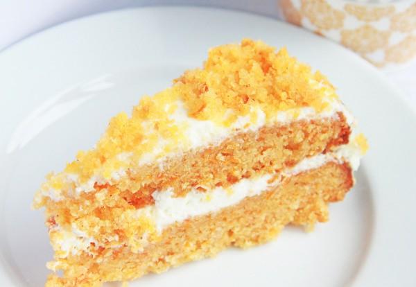 Рецепт                  Морковный торт со сметанным кремом