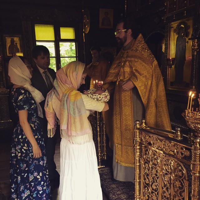 Лена Катина с сыном Александром