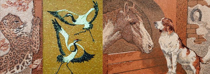 Картины из песка и ракушек, а вместо полотна