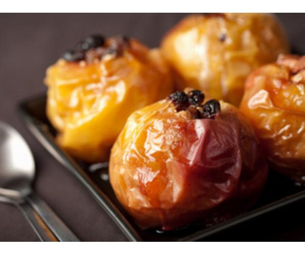 Рецепт                  Яблоки, печенные с изюмом и орехами