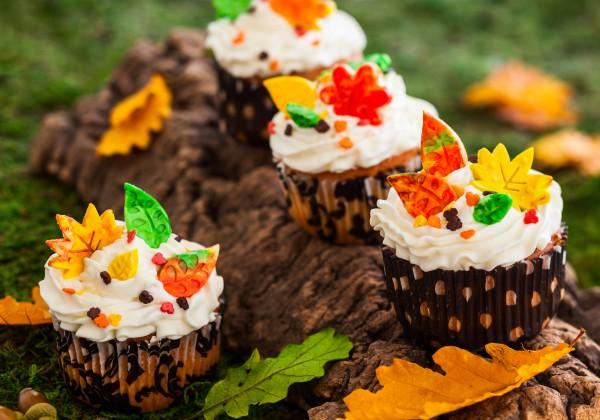 Рецепт                  Осенние капкейки из тыквы